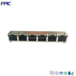 6 порт RJ45 разъемов для установки на поверхность Cat3 высокого класса электронных компонентов для телеприставки