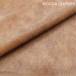 جلد صناعي من البولي يورثان بنغمات عالية الجودة يتميز بتصميم خمر خمر للنساء المداسات