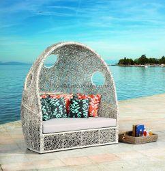 Двух местный Дом патио отеля бассейн плетеной мебели плетеной раскинут диван Swing кресло шезлонгами оптовой кушеткой сад устанавливает