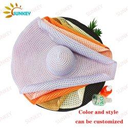2021 Summer Fashion Woman Oversize Big Brom Floppy Beach Travel Chapeau de paille en papier