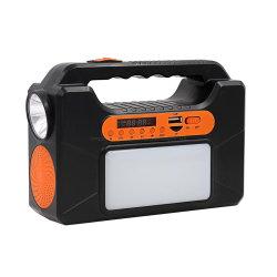 핸드 토치 블루투스 스피커 조명 키트 태양열 시스템(FM 포함 라디오