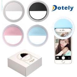 Selfie recargable Anillo de luz con LED Flash Fotografía con cámara ilumina