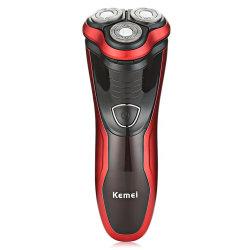Barbeador elétrico recarregável homens rotativo de lâmina de barbear