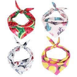 Hundc$bandanas-hundschellfisch-Doppelt-umschaltbarer Halstuch-Schal-justierbare Zubehör