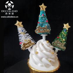 Mini Décorer un gâteau pour arbres de Noël en plastique