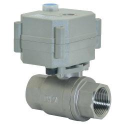 Controllo motorizzato con valvola a sfera elettrica in acciaio inox NSF61 a 2 vie Valvola a sfera con funzionamento manuale