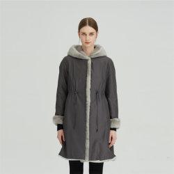 Winter Medium Length Rabbit Hair Fur Nick Garment Women