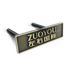 Fábrica de profesionales de la moda personalizada de muebles de metal de aleación de zinc Badge con adhesivo 3M