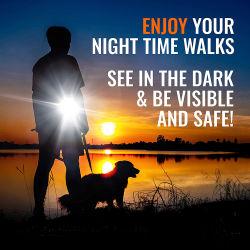 Piscina Barato Pet Acessório de funcionamento automático 3 em 1 cão lanterna LED