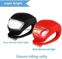고강도 다중목적 물 저항하는 헤드라이트 - 순환 안전 자전거 빛을%s 미등을 순환하는 정면과 후방 실리콘 LED 자전거