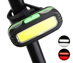 Luz Traseira de bicicletas COB Super LED brilhante de 180 lumens aluguer de luz traseira vermelha branca Luz Traseira para otimizar a segurança de bicicleta 7 modos de flash