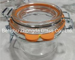 200ml en verre Jar de stockage avec joint de silicone anneau pour l'emballage de la Sauce