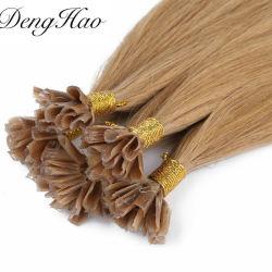 سعر الجملة 100 ٪ ريمي الشعر البشري الشعر البرازيلي طرف يو تمديدات الشعر المستعبدين بالألوان