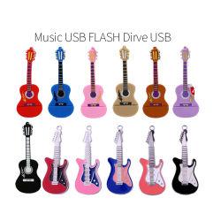 Entrada de micrófono/piano/guitarra/Cello/nota musical/Organ unidad Flash USB 2.0 Mini Pen Drive Pendrive 32GB de disco Flash Memory Stick U disco