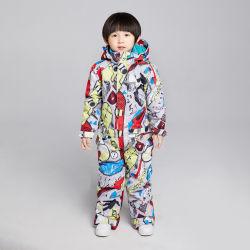 Ein bessert Skianzug-Overall-Overall-wasserdichten Schnee-AbnützungSnowsuit für Kind-Kind-Jungen-Kleinkind-Winter-im Freienskifahren-Snowboarding-Schnee-Sport aus