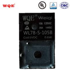Wl78 T78 초소형 자동 릴레이 5핀 4핀 20A 14VDC 차량용 전기 시스템용 PCB 릴레이