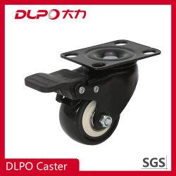Dlpo 2.5-5дюймовый черный вытирания универсальной пластины пластиковые-Core PU продольного наклона оси поворота колеса