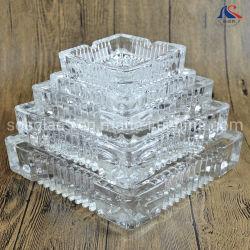 El mejor venta claro Cenicero Cenicero de cristal personalizado para el Hotel