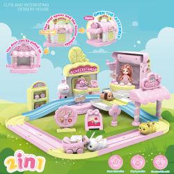 أطفال يلعب منزل حيوان لعبة مع [بو] محبوبة محاكاة لعبة لعبة مع دمية