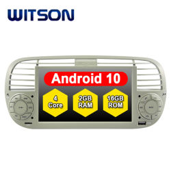 Witson Quad-Core Android 10 Car Multimedia Player voor FIAT 500 Autoradio
