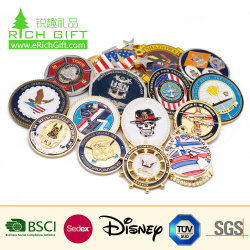 China Manufacturer Maker Custom Logo Herdenkings-Emailleger CIA 3D Metal Antique Souvenir Gold Military Award Silver Police Challenge Coin Voor Promotiegeschenk