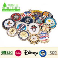 Китай Изготовитель буклетов Логотип торжественного эмаль армии ЦРУ 3D металлические предметы антиквариата сувенирный Gold военных награду Silver полиции задача монеты в подарок для продвижения