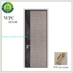 De houten Deur van de Stijl WPC van de Steen van de Korrel Donkere Moderne met Vuil Bestand en Gemakkelijk schoon te maken