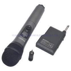 Comunicação sem fio VHF UHF Leisound Cordless Microfone de Karaoke