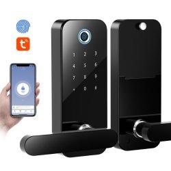Segurança de segurança da Kingneed F11s bloqueio do manípulo da porta inteligente elétrico digital Fechadura de porta Tuya com Bluetooth com chave