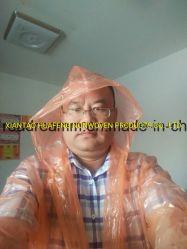 PE van de Fabrikant van de Fabriek van Xiantao de Kleding van de Kleren van Regenmantel Gabardina van de Regenjas van Rainsuit van de Bevordering van de Gift van de Regenjas van de Poncho van de Regenkleding van de Laag van de Regen van de Verwijdering