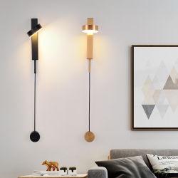 Dormitorio de cabecera de rotación de Atelier negro LED Lámpara de estilo Art Deco de la luz de la cabecera (WH-VR-87)