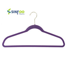 [Sinfoo] ropa de plástico antideslizante de prendas de vestir traje de terciopelo flocado con Gancho Gancho de Oro (VH008-1)
