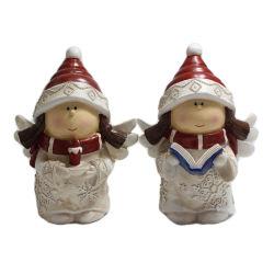 卸し売りクラフトは休日の装飾のための本の&Candleを小型クリスマスの天使の置物に供給する