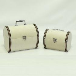 ファブリックスーツケースの形の寝具の一定の使用の記憶の装飾的なトランクボックス