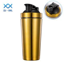 bottiglia a parete semplice dell'agitatore dell'acciaio inossidabile di vendita calda 500ml che agita bottiglia di acqua per forma fisica di ginnastica