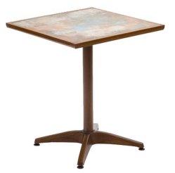 La preuve de la rouille jardin patio de loisirs de plein air en aluminium des meubles en osier en rotin Set Table Chaise (je peux-50027)