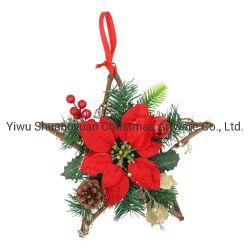Крест-накрест висящих плетеной украшения рождественские украшения елочные украшения