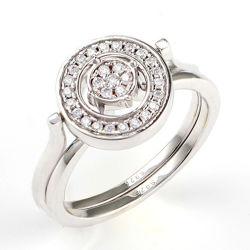方法宝石類925の純銀製のダイヤモンドの宝石類の一定のリング