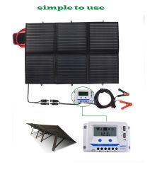 Plegable 100W Cargador Panel Solar Cargador solar portátil Bolsa cargador
