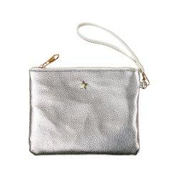 حقيبة أنيقة من تصميم Clemence فضية PU