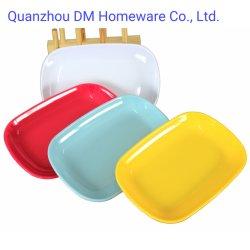 8 Polegada Degradáveis Retângulo leve jantar pratos coloridos de plástico da placa de melamina Tabela Ware