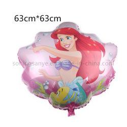 Dto0249 Ballon van de Meermin Mylar van het Karakter van het Beeldverhaal van de Partij van het Thema van Oceanen de Opblaasbare
