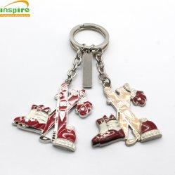 Großhandelsandenken-Geschenk-Weihnachtskarnevals-kundenspezifisches Metallschlüsselkette