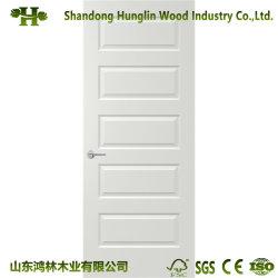 El interior de la puerta de enchapado de madera natural la piel / Puertas MDF Imprimación blanca