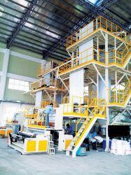 Jusqu'Traction Co-Extrusion vertical rotatif trois couches de film machine de soufflage