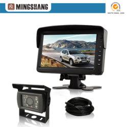 7 pouces de système de caméra de rétroviseur avec kit de câble de remorque de camion autobus/autocars