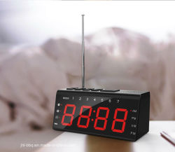 المكتب وساعة الطاولة مع دمج الشاشة عالية الدقة المزودة بمؤشر LED مع راديو FM وAM، منبه ثنائي وموتوب سنوز شحن الهاتف