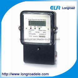 Fase única de dois fios de aço contra o medidor eletrônico de quilowatt hora
