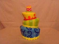 Кракер Баррелл керамические торт Cookie продувки адсорбера Jar Фанки Безумный день рождения