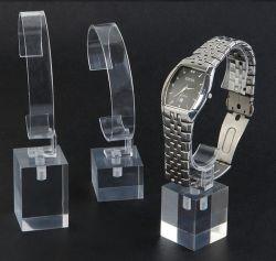 Freies Acryl überwacht Ausstellungsstand-Einzelverkaufs-Armbanduhr-Regal mit c-Halter